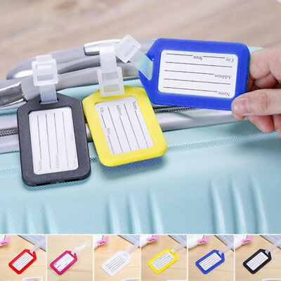Anti Lost PVC Luggage Tag Suitcase Labels Name AddressID Bag Baggage Mark Travel