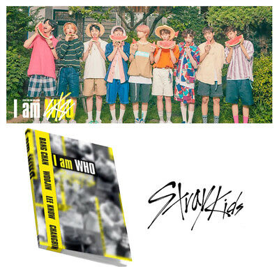 KPOP 2nd Album [I am ver] STRAY KIDS I am WHO CD+Poster+Blooklet+3Photocard+Gift