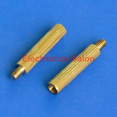 20pcs 15mm Threaded M2 Brass Male-Female Standoff, Spacer.