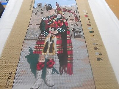 "Penelope ""Scottish Piper"" Printed Tapestry Canvas - includes 2 free wools"