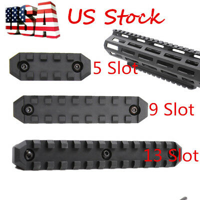 US M-LOK 5/9/13 Slot Picatinny/Weaver Rail Segment Handguard Section Aluminum
