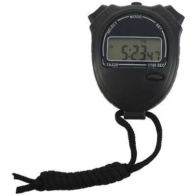 Stopwatch Stop Watch LCD Digital Chronograph Timer Counter Sports H9I3