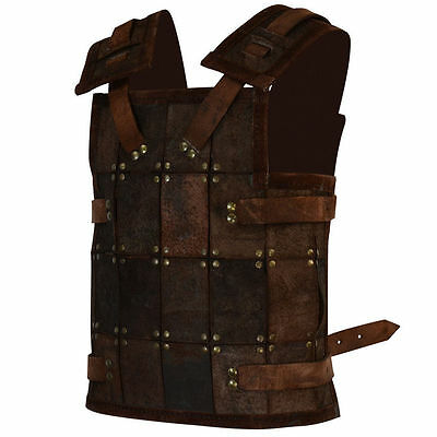 Leather Viking Armor, Brown Soldier, S, M Medieval, LARP, Cosplay, Chest