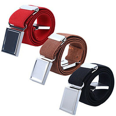 Adjustable Boys Kids Magnetic Buckle Belt Elastic Canvas Waist Belts Waistband