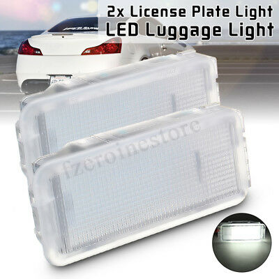 2x LED Luggage Footwell Glove Trunk Box Boot Door Light For Peugeot 206 Citroen