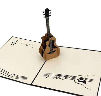 IShareCards Handmade 3D Pop Up Thank You Greeting Cards Rock Music Concert