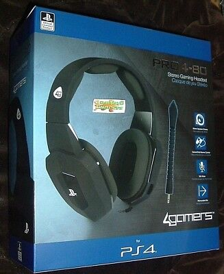 Official Premium Stereo Gaming Headset Black PRO4-80 Playstation 4 PS4 NEW