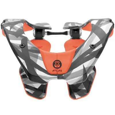 New 2018 Atlas Air Neck Brace Orange Laser Motocross Bmx Adult Enduro Mtb Cheap