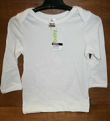 Baby Bonds long sleeved top  size 1  white NWT