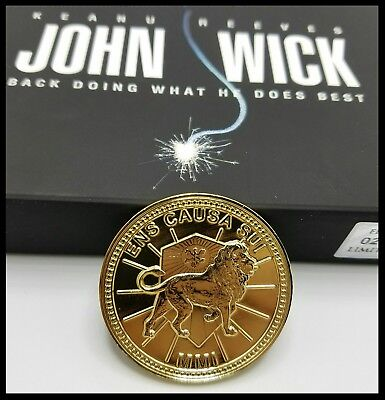 John Wick Challenge Coin Krugerrand Pop Continental Hotel Assassin Keanu Movie