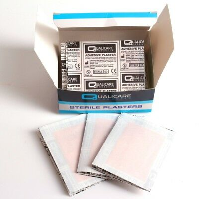 50x LARGE RECTANGLE WASHPROOF PLASTERS Latex Free 72mm x 50mm Cut Wound Dressing