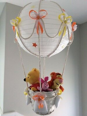 Winnie piglet and tigger in a hot air balloon lightshade