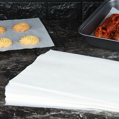 50 Sheets Silicone Greaseproof Paper Baking Parchment Wrap Multisize Safety Home