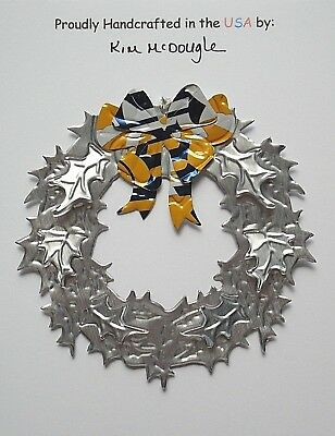 Wreath Christmas Ornament Handmade Recycled Aluminum C Light Mexican Beer Can