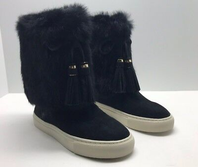 82520aca6a22  389 NEW IN Box Tory Burch Shoes Flats Fur Anjelica BOOTS SUEDE 7 ...
