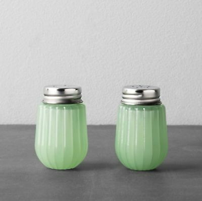 Glass Salt And Pepper Set - Green - Hearth & Hand with Magnolia By Chip and J...