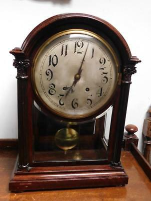 mahogany winterhalder & hoffmeir 1/4 striking ting tang 3 glass bracket clock