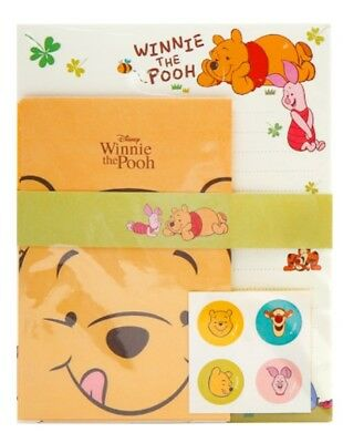 Disney Winnie The Pooh Letter Envelopes Staionery Paper Set Cute Design