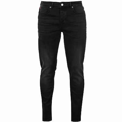 Lee Cooper Black Jeans Mens Gents Straight Pants Trousers Bottoms Denim