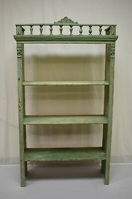 Antique Painted Pine Utility Shelf or Bookshelf