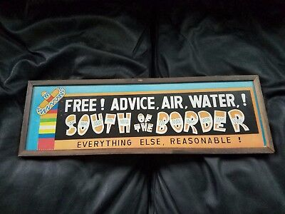 Vintage collectible souvenir wooden sign from South Carolina South of the Border