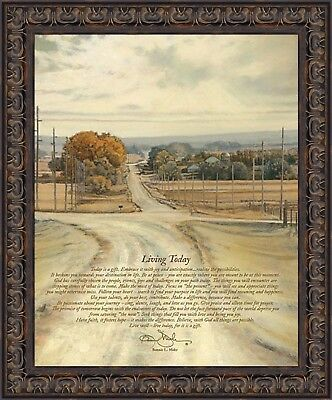 Art Print COW301 Living Life Framed or Plaque by Bonnie Mohr