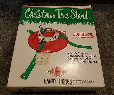 Vintage NEW OLD STOCK SEARS Red Metal Christmas Tree Stand by Handy Things