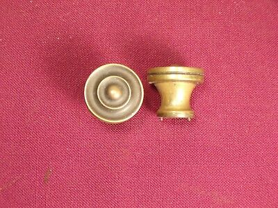 2 Vintage / Antique Brass Dresser Drawer Cabinet Furniture Pulls Knob Hardware
