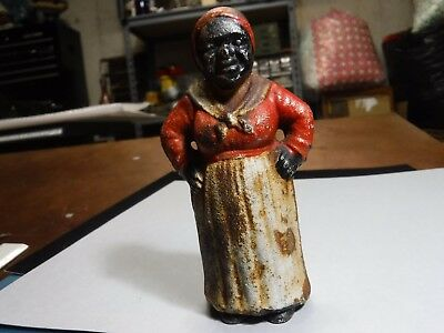 "Vintage Aunt Jemima Cast Iron Bank 5"" Tall"