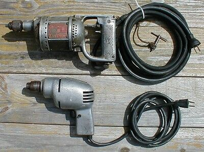 1 VINTAGE BLACK & Decker Electric Drill & 1 Ram Tool Co  Drill for  PARTS/REPAIR