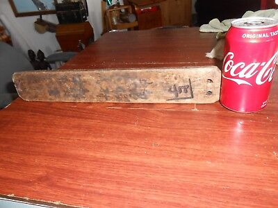 "Vtg Antique Japanese Wood Fish Crab  Float Kanji up to 14"" Nautical Decor"