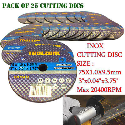 "25 x 3""/75MM THIN AIR HIGH QUALITY CUT OFF DISC/Angle Grinder Grinding Blade"