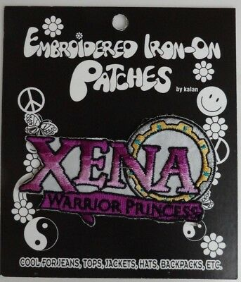 Rare Xena Warrior Princess Embroidered Iron On Patch TV Show, Lucy Lawless - NEW