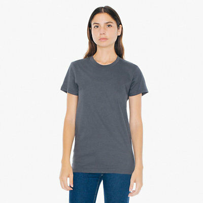 2102AA AMERICAN APPAREL MADE IN THE USA WOMEN'S FINE JERSEY TEE 19 COLORS New!