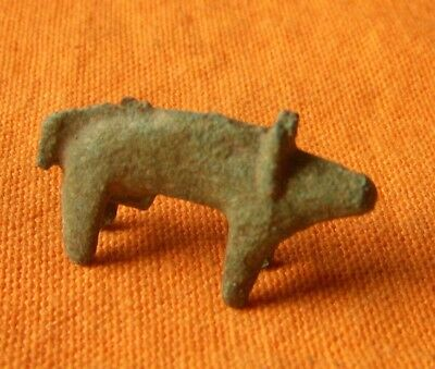 A306. Greek style bronze figure of wild boar.