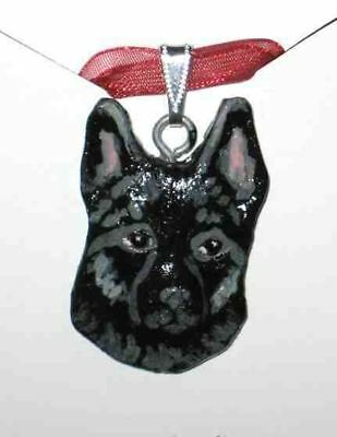 Sculpted SCHIPPERKE Necklace/Pendant Handpainted Original