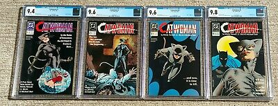 Catwomen #1 thru #4 – Complete Set – DC 1989 – CGC 9.4 NM, 9.6 NM+, 9.8 NM/MT