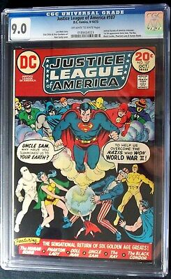 Justice League of America #107 CGC 9.0 First SA apperance The Ray,  Oct. 1973