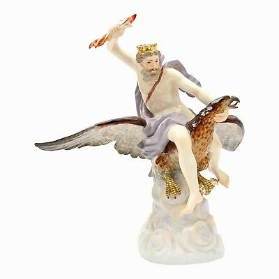 """A very good quality MEISSEN Outstanding Figure Group """"Jupiter"""" around 1900"""