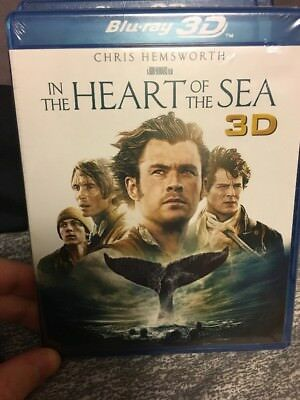 In The Heart of the Sea (2D/3D Blu-ray/DVD + Digital HD, 2016) NEW Sealed