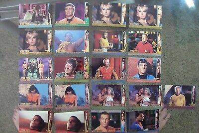 Star Trek (21) Original Trading series 2 PROFILES card lot show set 1998  tos