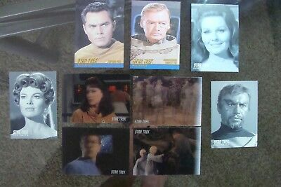 Star Trek (9 Original Trading card lot set 2009 tos Lenticular Portraits Tribute
