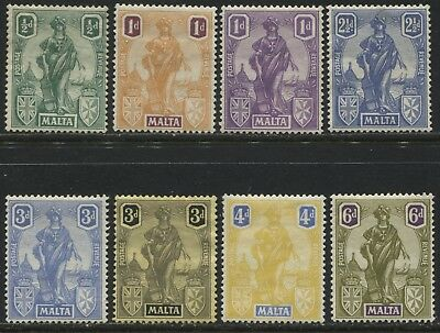 Malta 1922-26 various definitives to 6d mint o.g.
