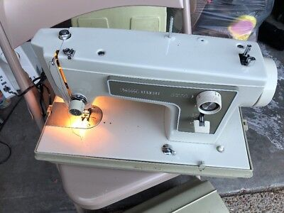 Sears Kenmore Vintage Portable All Metal Sewing Machine 5154 w/Pedal & Case Part