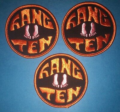 Rare Vintage 1970/'s Collectible Surfing Hang Ten Hat Hipster Jacket Patch 100