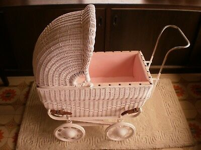dolls antique cane pram