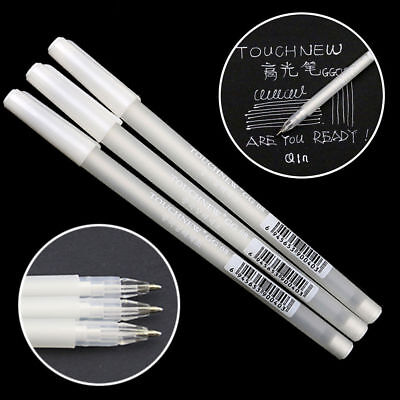 White Gel Ink Pen Artist Archival Fine Tip Sketching Drawing Painting Pens Hot