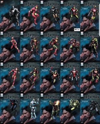 TONY STARK IRON MAN #1 COMPLETE ARMOR VARIANT - All 20 Covers