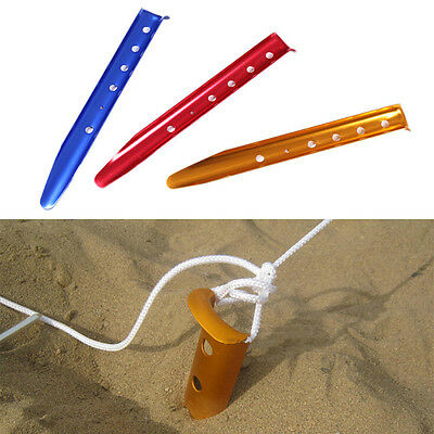 Camping Hiking Outdoor Tent Snow Loose Sand Peg Stakes Length 11.8 inch
