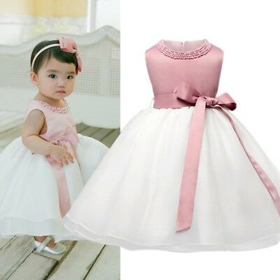 Kids Baby Girl Flower Princess Dress Birthday Party Wedding Pageant Tutu Dresses